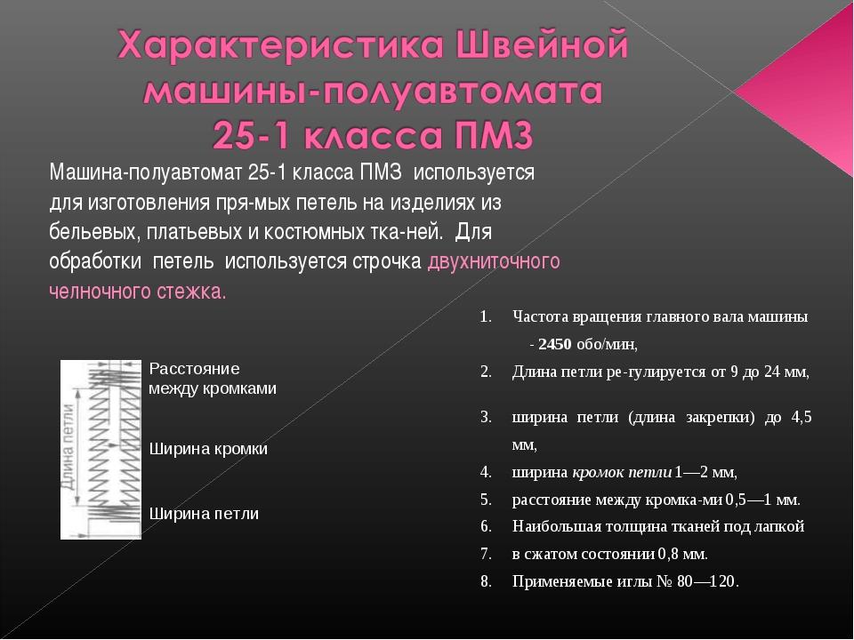 Машина-полуавтомат 25-1 класса ПМЗ используется для изготовления прямых пете...