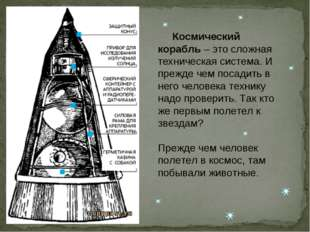 Космический корабль – это сложная техническая система. И прежде чем посадить