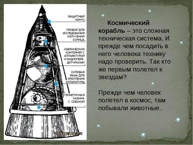 Космический корабль – это сложная техническая система. И прежде чем посадить...