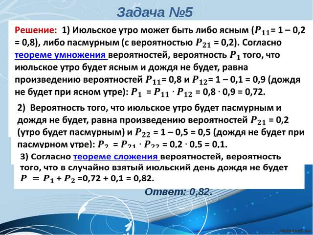 Ответ: 0,82. Антонова Г.В. Задача №5