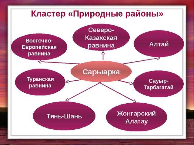 Кластер «Природные районы» Восточно-Европейская равнина Северо-Казахская равн...