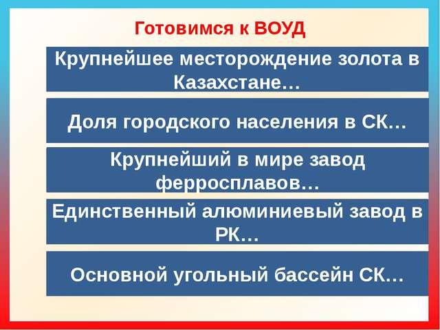 Готовимся к ВОУД  Крупнейшее месторождение золота в Казахстане… Доля городск...