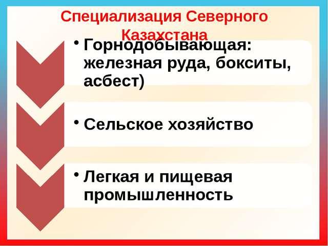 Специализация Северного Казахстана