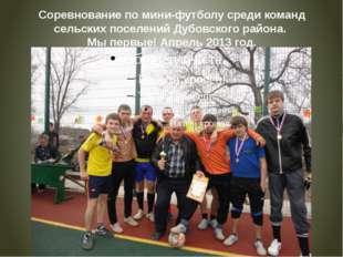Соревнование по мини-футболу среди команд сельских поселений Дубовского район