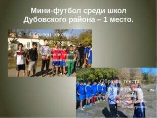 Мини-футбол среди школ Дубовского района – 1 место.