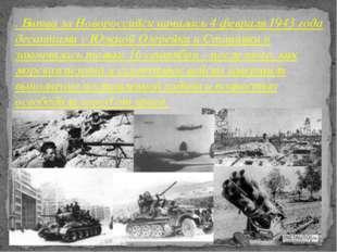 . Битва за Новороссийск началась 4 февраля 1943 года десантами у Южной Озерей