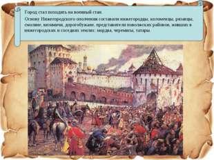 Город стал походить на военный стан. Основу Нижегородского ополчения состави