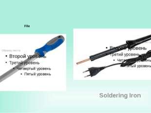 File Soldering Iron