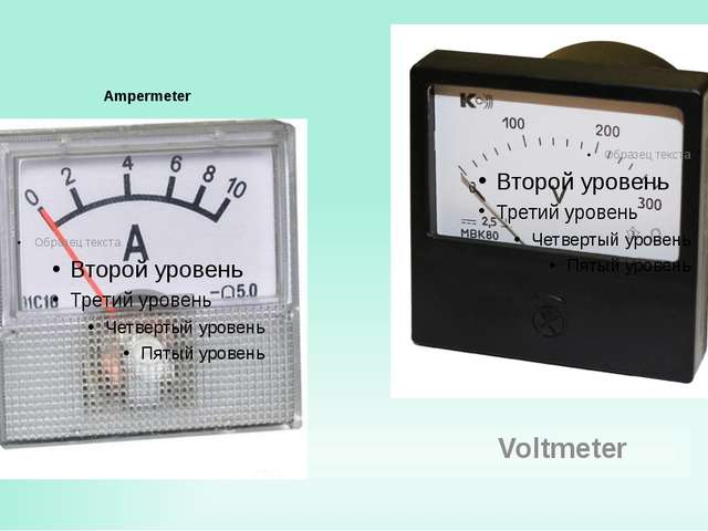 Ampermeter Voltmeter