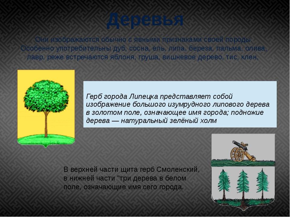 Деревья Они изображаются обычно с явными признаками своей породы. Особенно уп...