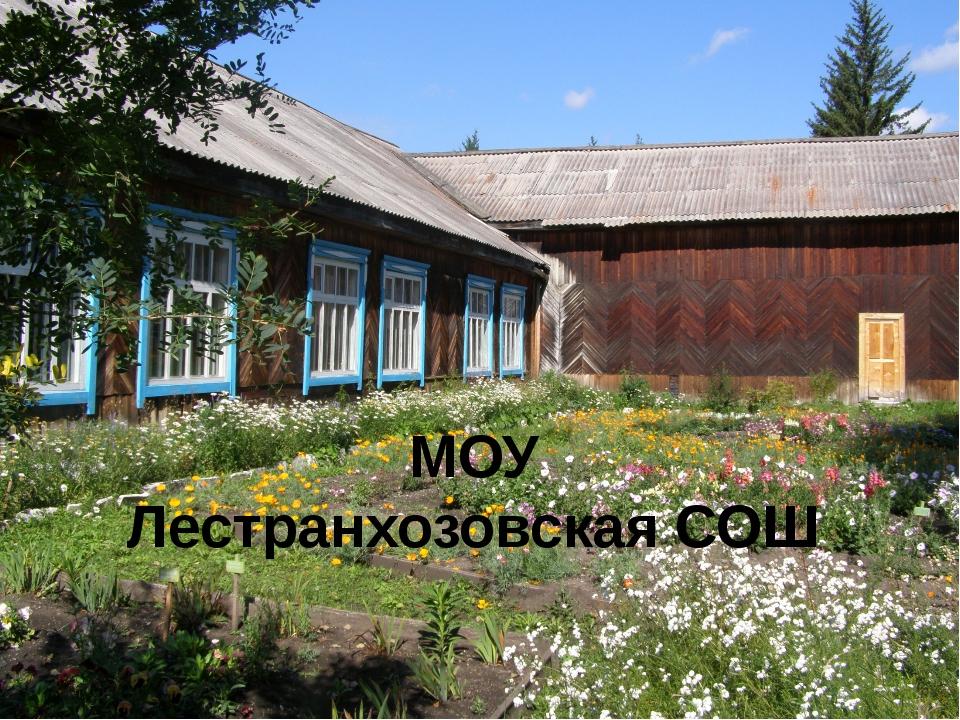 МОУ Лестранхозовская СОШ