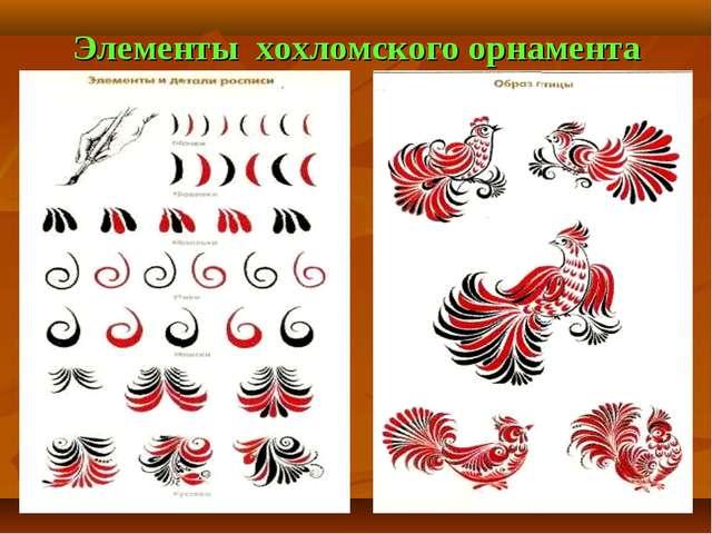 Элементы хохломского орнамента