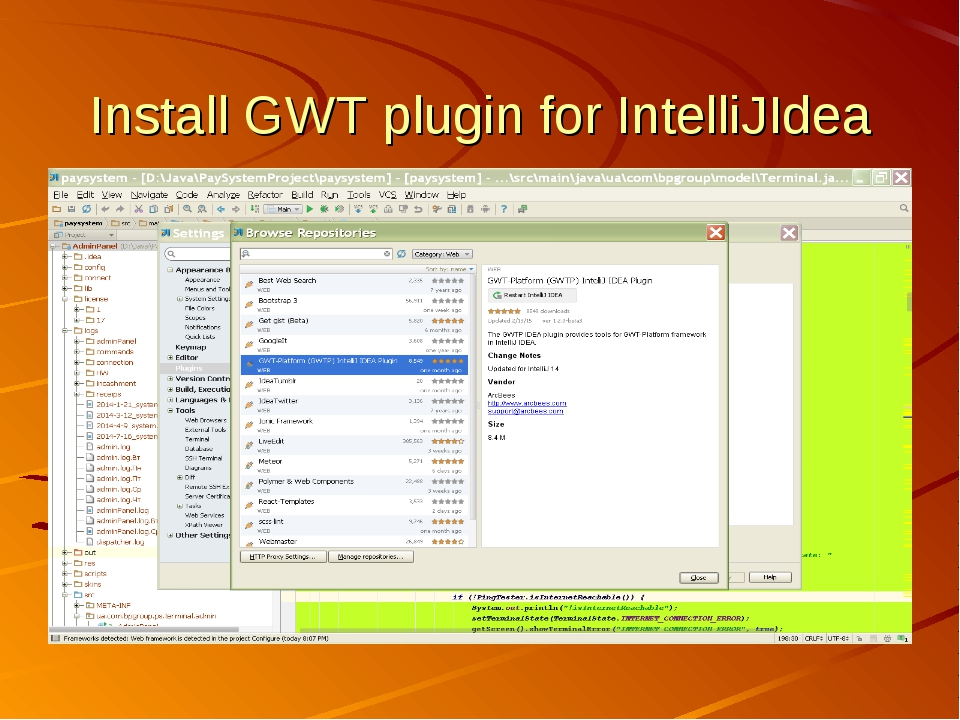 Install GWT plugin for IntelliJIdea