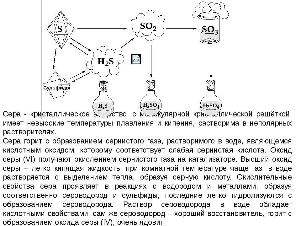 Сера - кристаллическое вещество, с молекулярной кристаллической решёткой, им...