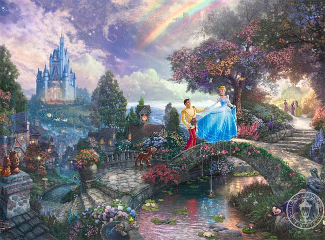 Купить Disney Dream 12 Collection Thomas Kinkade Oil paintin…