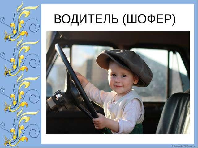 ВОДИТЕЛЬ (ШОФЕР) FokinaLida.75@mail.ru