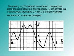Функция y = ƒ(x) задана на отрезке На рисунке изображен график ее производно