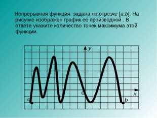 Непрерывная функция задана на отрезке [a;b]. На рисунке изображен график ее