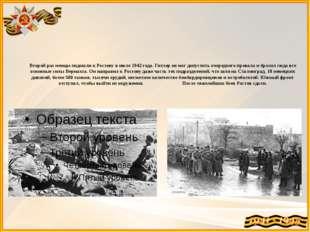 Второй раз немцы подошли к Ростову в июле 1942 года. Гитлер не мог допустить