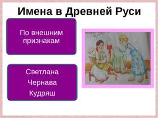 Имена в Древней Руси По внешним признакам Светлана Чернава Кудряш FokinaLida.