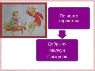 По черте характера Добрыня Молчун Прыгунок FokinaLida.75@mail.ru