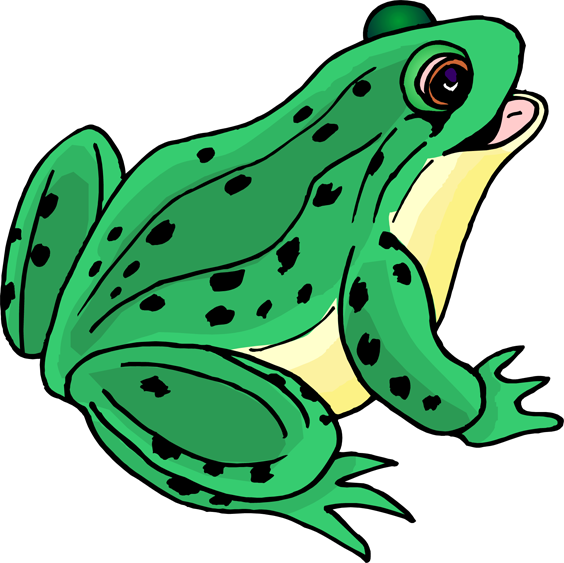 Сток-фото: cute - лягушка - cartoon - зеленый - воды - улыбка