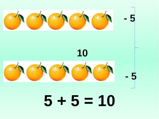 - 5 10 - 5 5 + 5 = 10