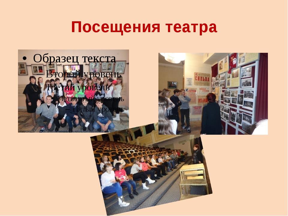 Посещения театра
