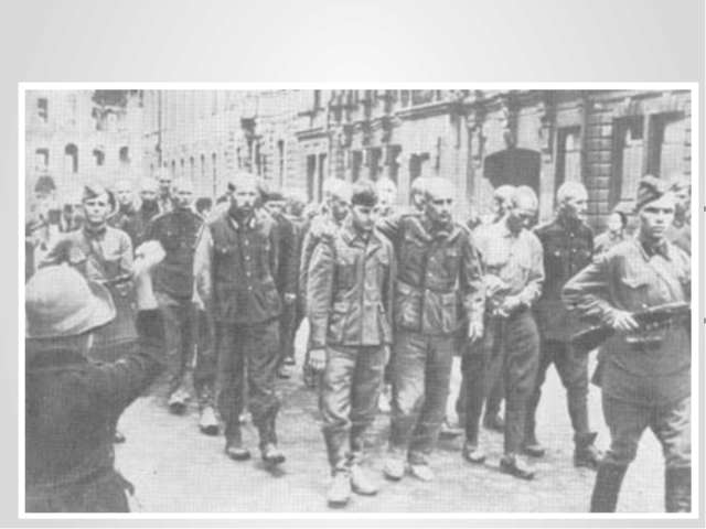 «Парад» немецких войск в Ленинграде…