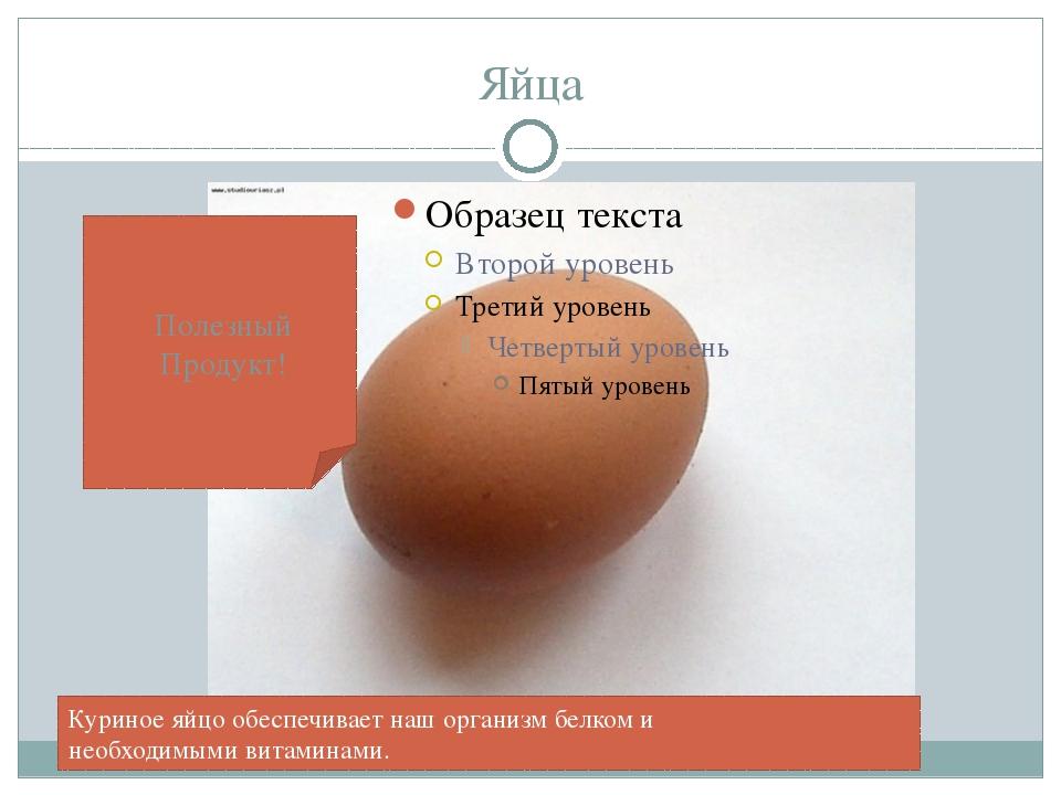 Яйца Куриное яйцо обеспечивает наш организм белком и необходимыми витаминами....