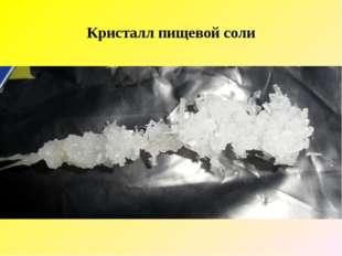 Кристалл пищевой соли