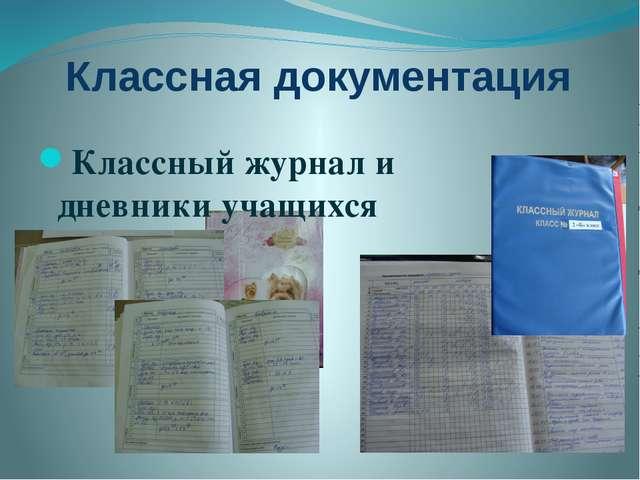 Классная документация Классный журнал и дневники учащихся
