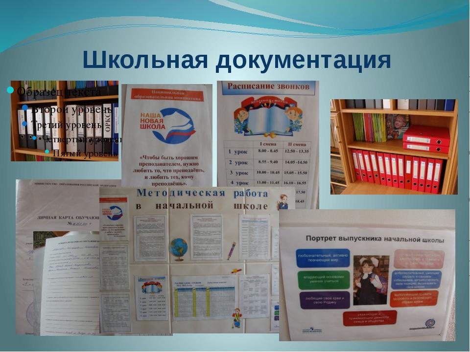 Школьная документация