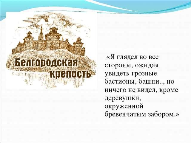 «Я глядел во все стороны, ожидая увидеть грозные бастионы, башни.., но ничег...