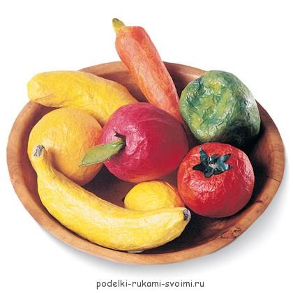 муляж овощей и фруктов своими руками (1)