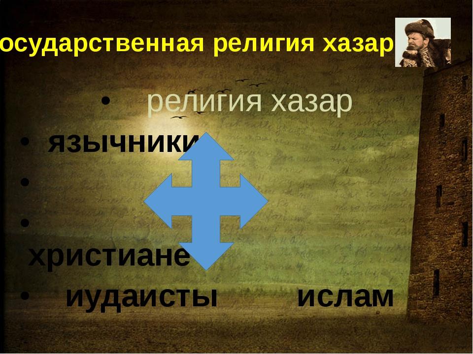 Государственная религия хазар религия хазар язычники христиане иудаисты ислам