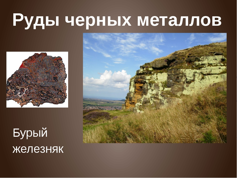 Руды черных металлов Бурый железняк