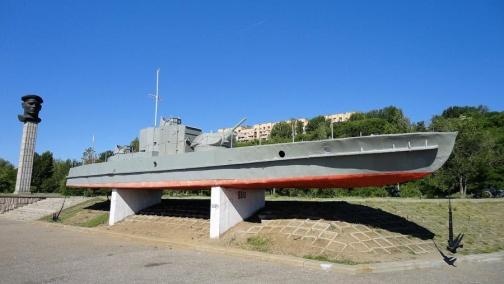 Героям Волжской военной флотилии, бронекатер БК-13