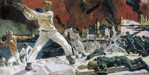 Звание Город-герой Севастополь. Картина Дейнека
