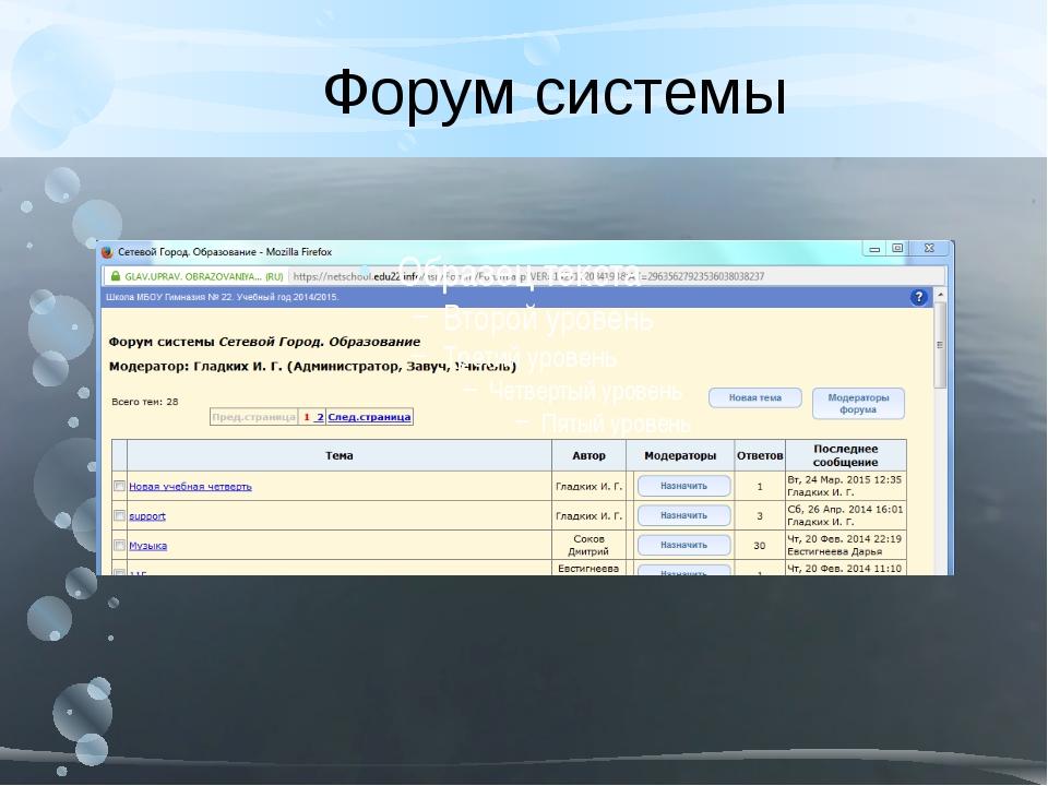 Форум системы