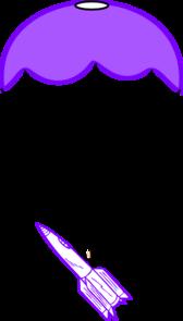 Parachute With Rocket clip art - vector clip art online, royalty free & public domain