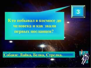 Кто побывал в космосе до человека и как звали первых посланцев? 3 Собаки: Ла