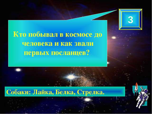 Кто побывал в космосе до человека и как звали первых посланцев? 3 Собаки: Ла...