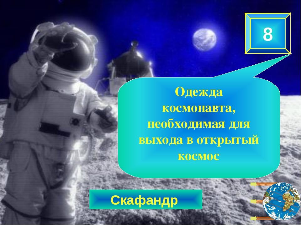 Скафандр 8 Одежда космонавта, необходимая для выхода в открытый космос