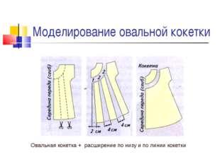 Моделирование овальной кокетки Овальная кокетка + расширение по низу и по лин