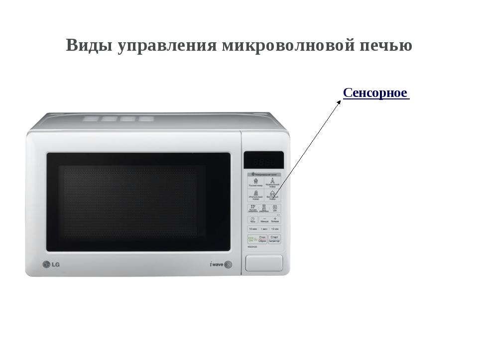 Сенсорное Виды управления микроволновой печью