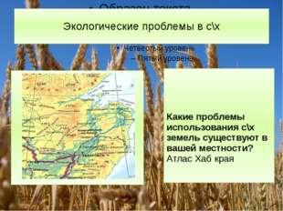 Экологические проблемы в с\х Какие проблемы использования с\х земель существу