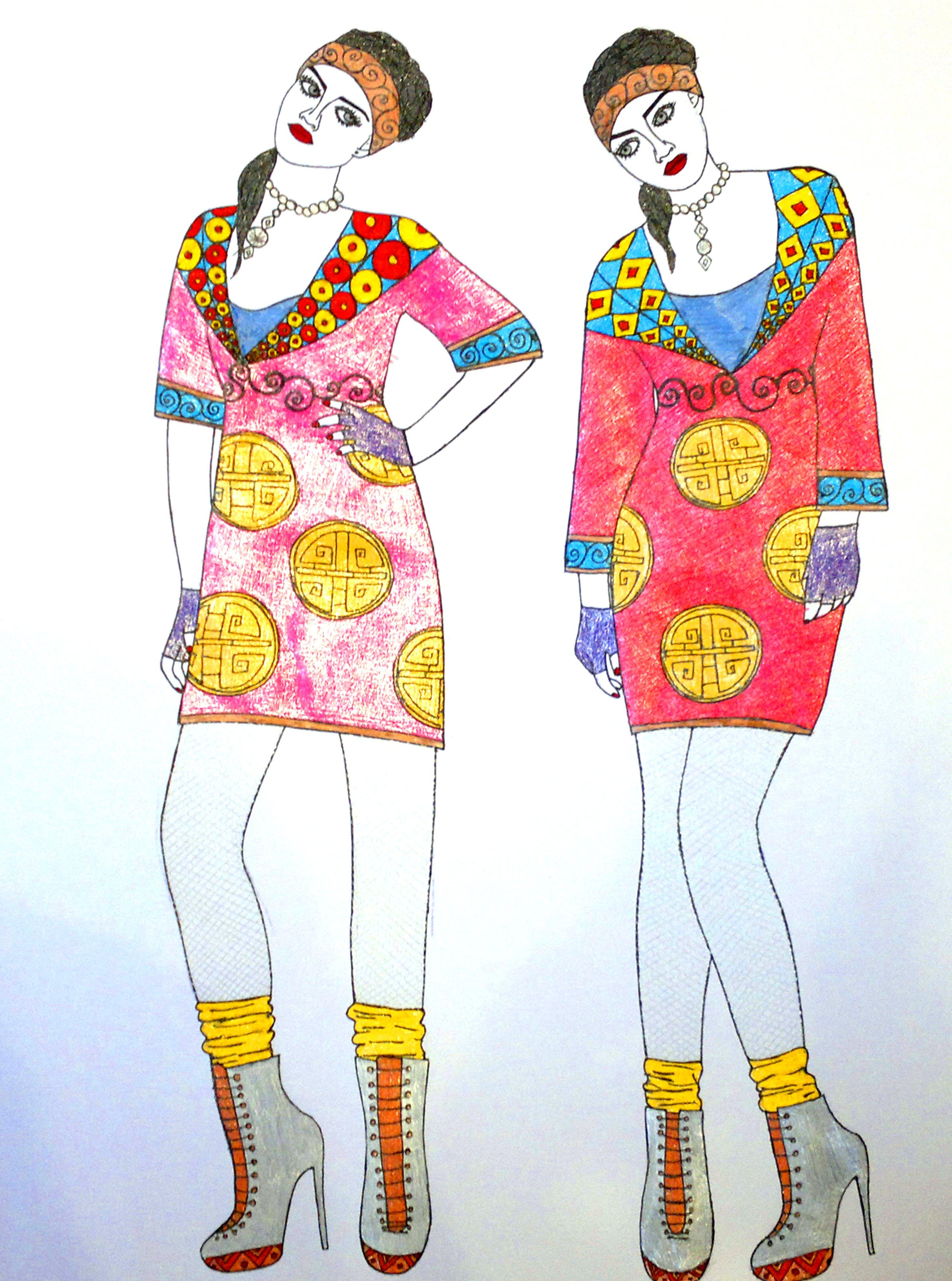 виде рисунки крутых костюмов с узорами гвоздики мама