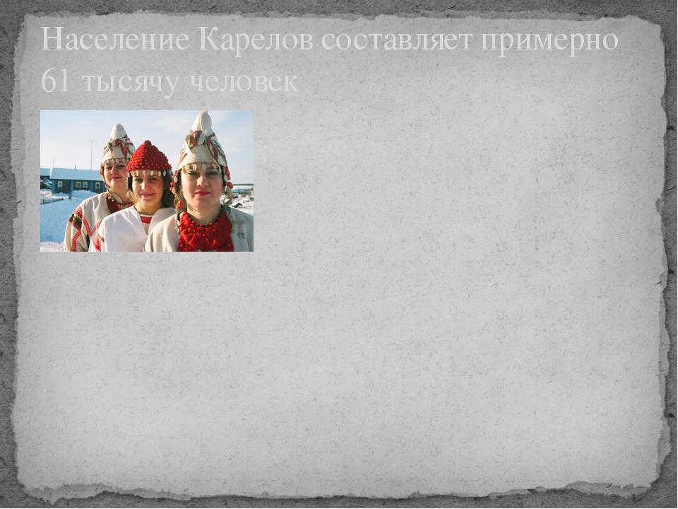 Население Карелов составляет примерно 61 тысячу человек