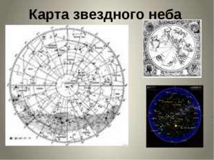 Карта звездного неба Слово учителя: Открываем космическую карту и определяем